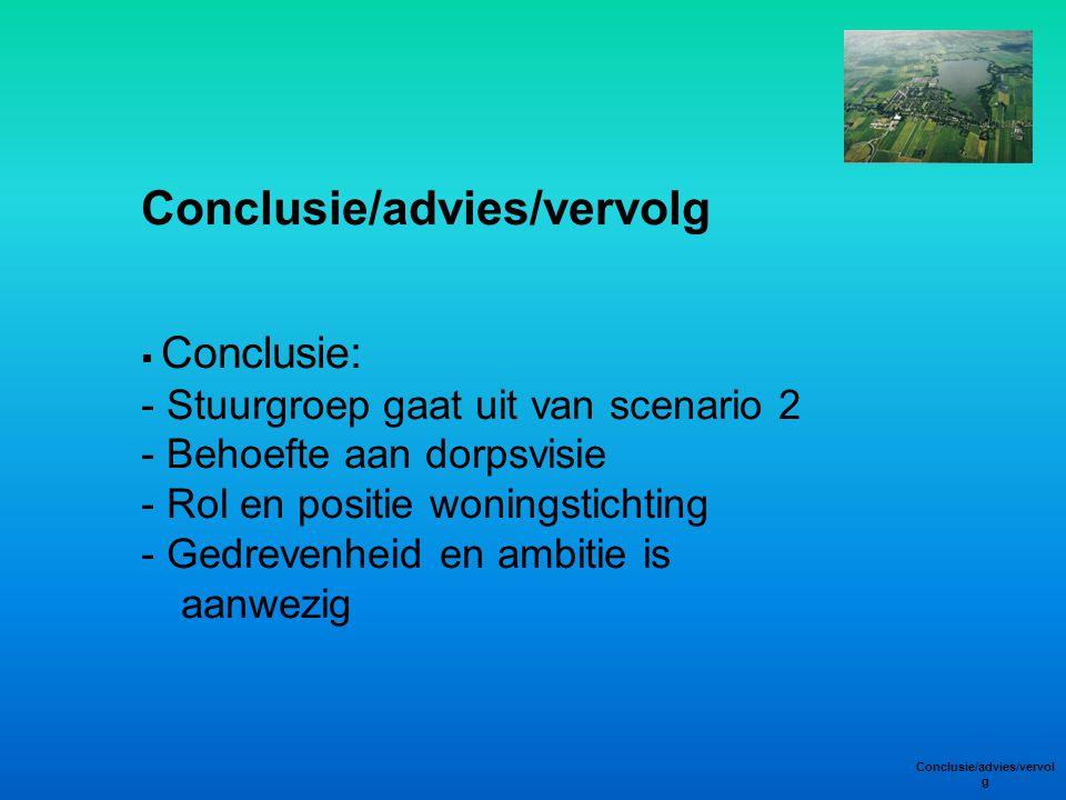 Conclusie/advies/vervolg