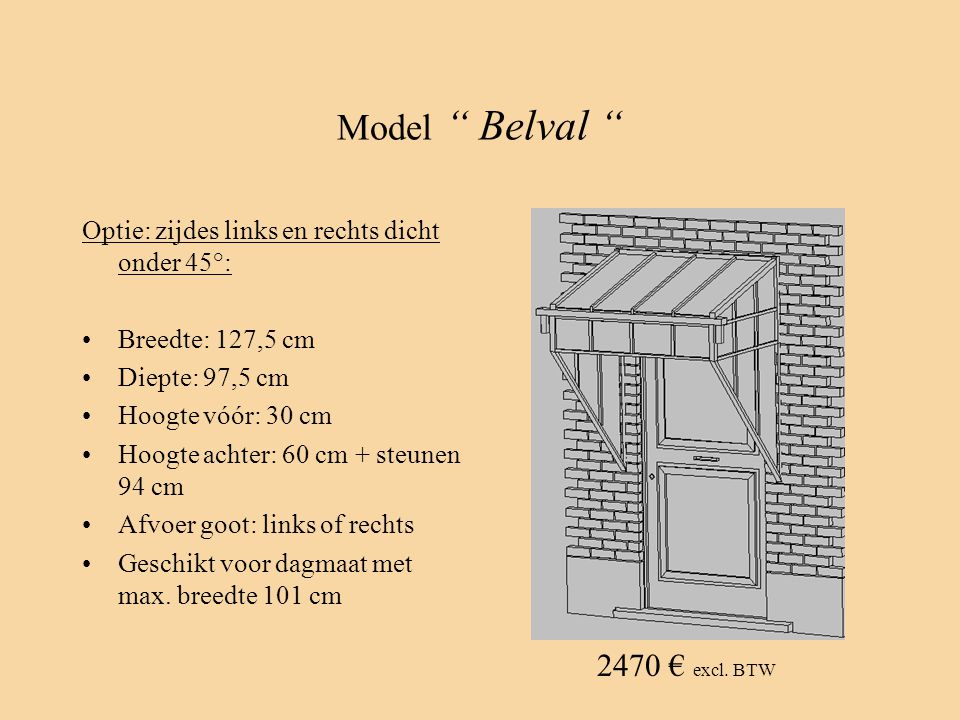 Model Belval 2470 € excl. BTW