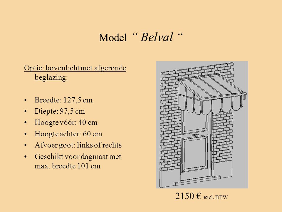 Model Belval 2150 € excl. BTW