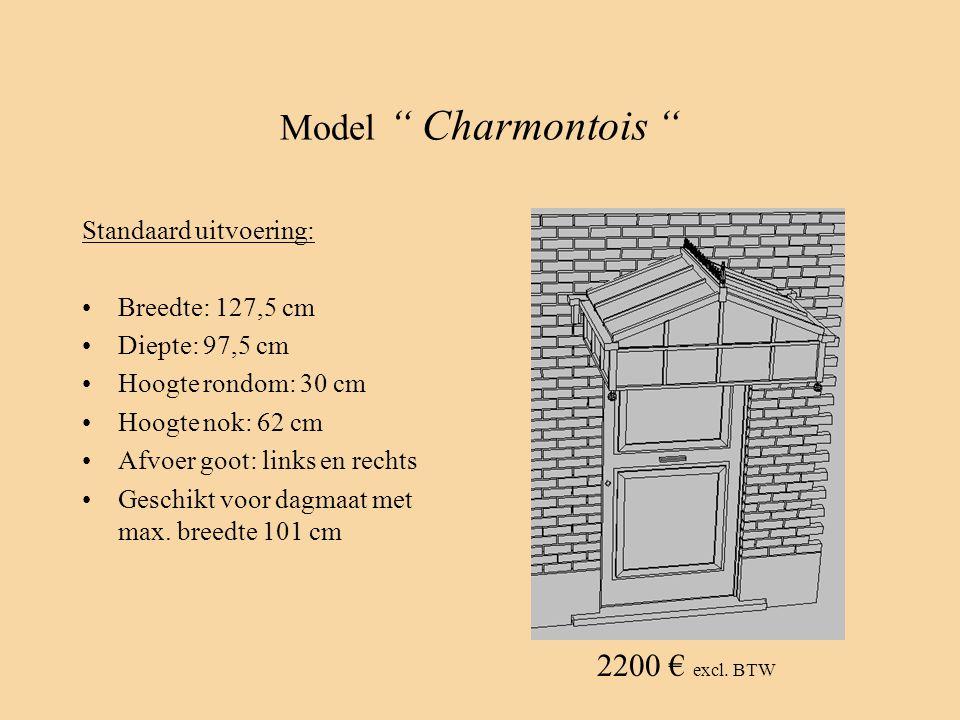 Model Charmontois 2200 € excl. BTW Standaard uitvoering: