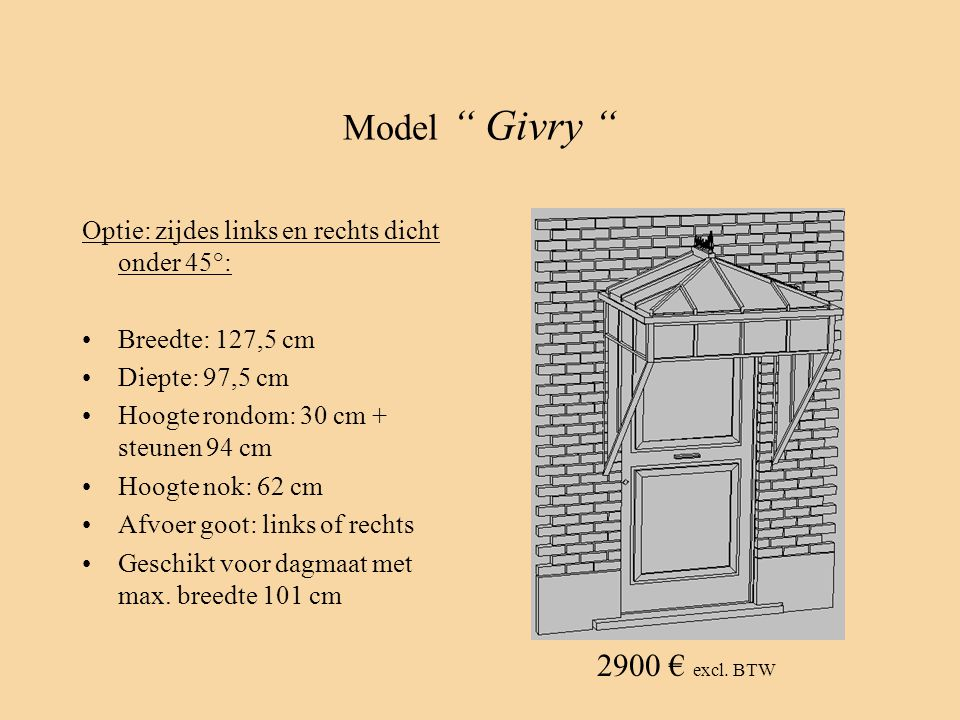 Model Givry 2900 € excl. BTW