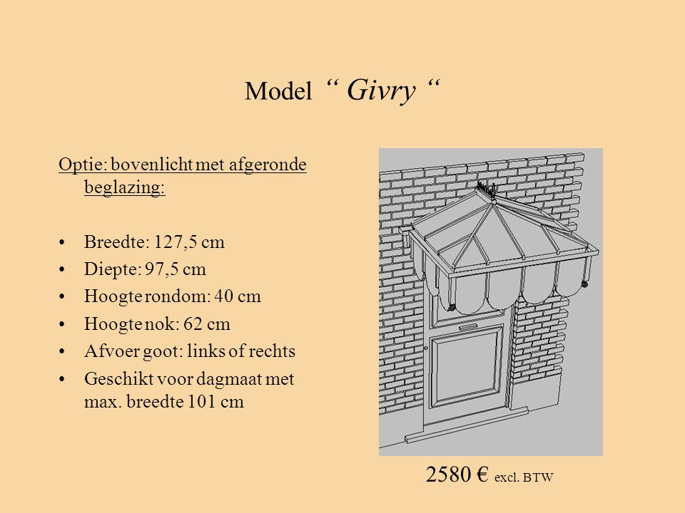 Model Givry 2580 € excl. BTW