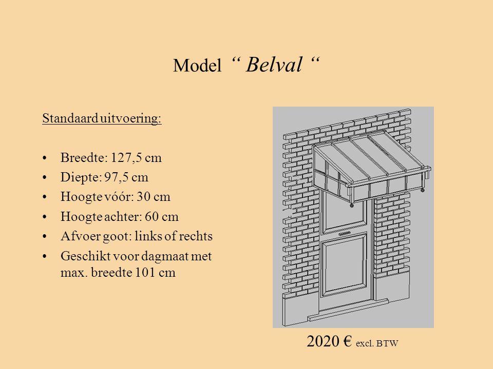 Model Belval 2020 € excl. BTW Standaard uitvoering:
