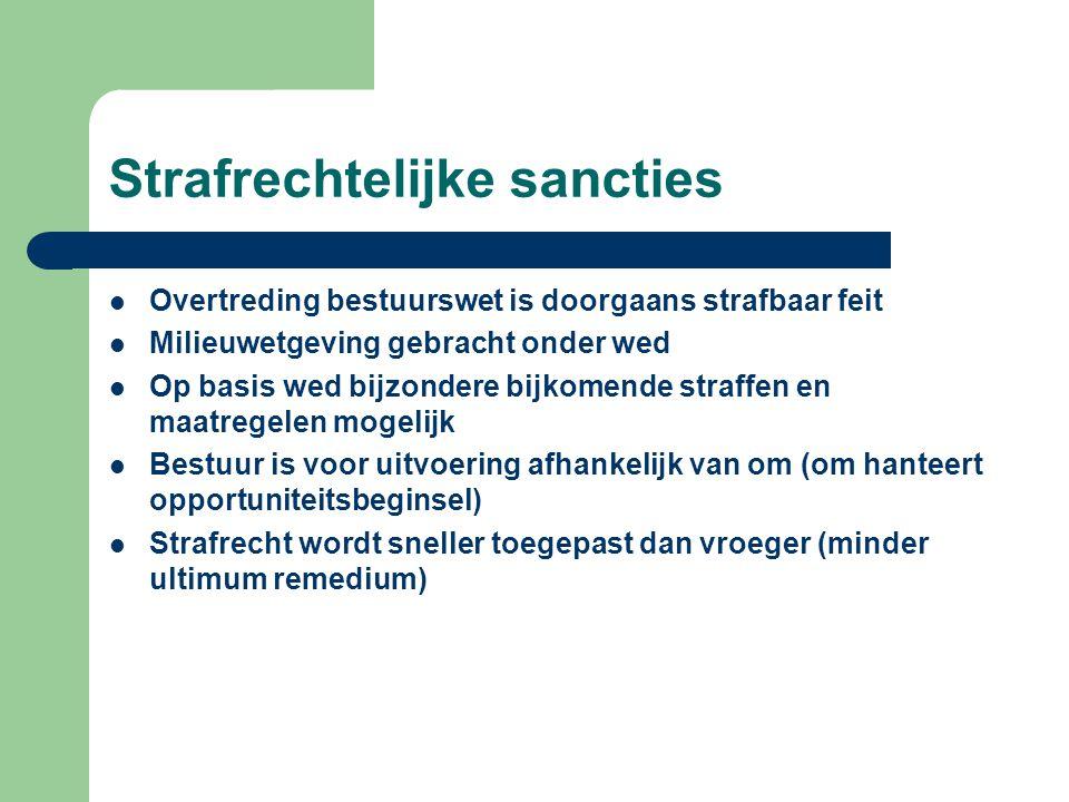 Strafrechtelijke sancties