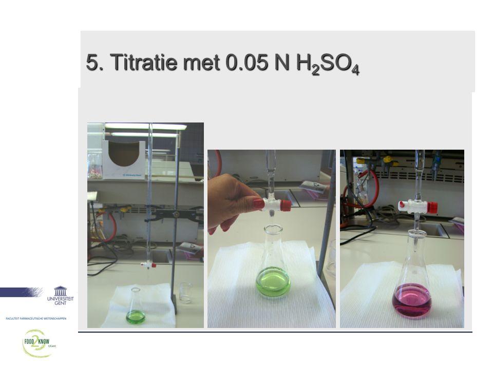 5. Titratie met 0.05 N H2SO4 17