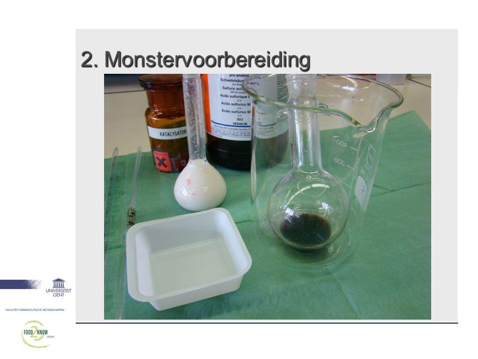 2. Monstervoorbereiding