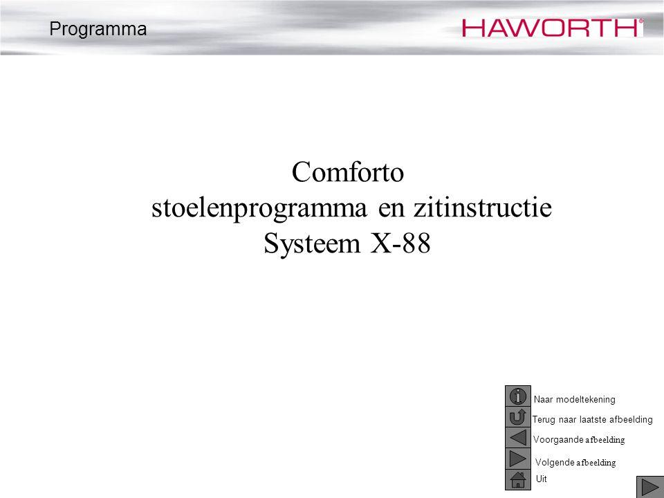 Comforto stoelenprogramma en zitinstructie Systeem X-88