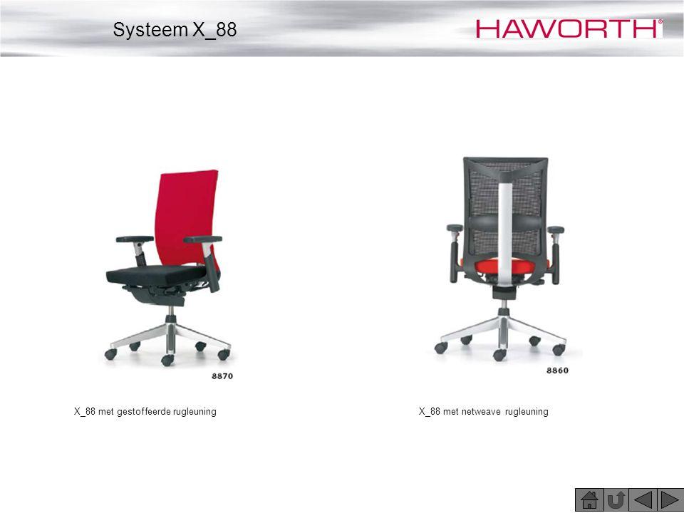 Systeem X_88 X_88 met gestoffeerde rugleuning
