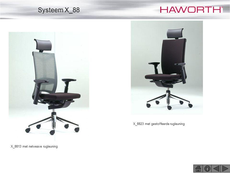 Systeem X_88 X_8823 met gestoffeerde rugleuning