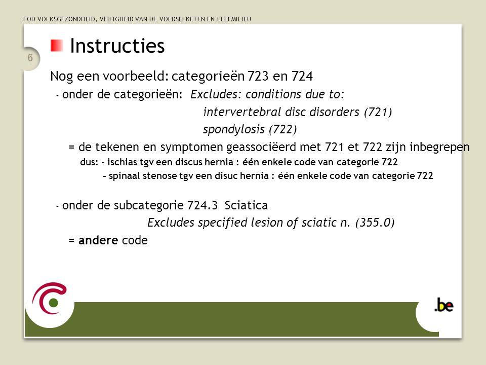 Instructies Nog een voorbeeld: categorieën 723 en 724
