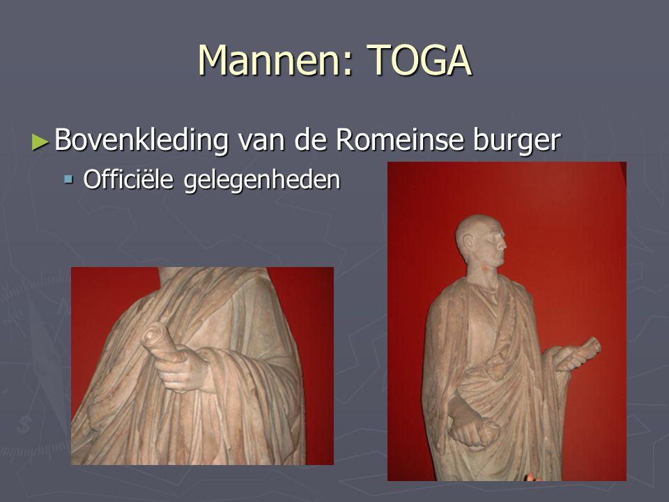 Mannen: TOGA Bovenkleding van de Romeinse burger
