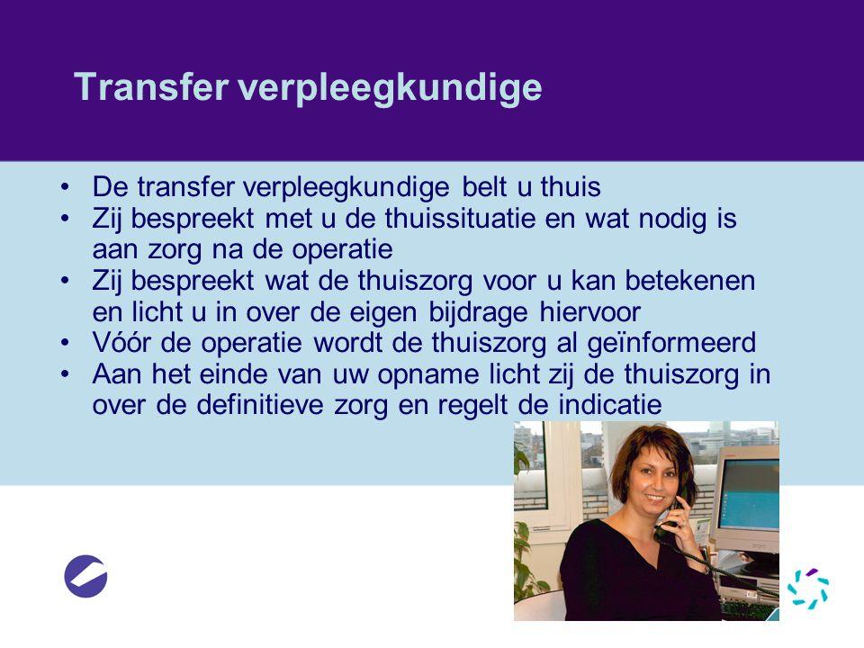 Transfer verpleegkundige
