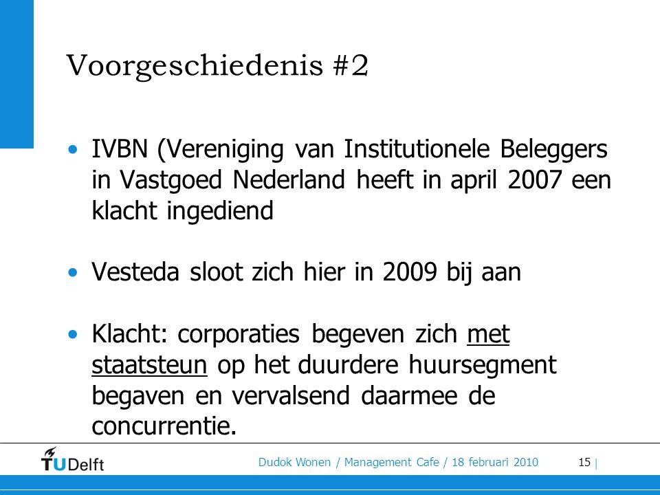 Voorgeschiedenis #2 IVBN (Vereniging van Institutionele Beleggers in Vastgoed Nederland heeft in april 2007 een klacht ingediend.