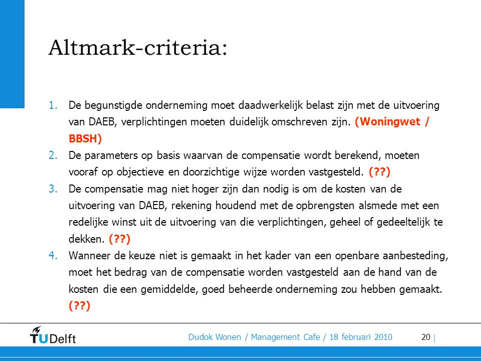 Altmark-criteria: