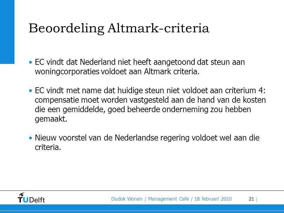 Beoordeling Altmark-criteria