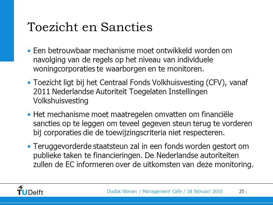 Toezicht en Sancties