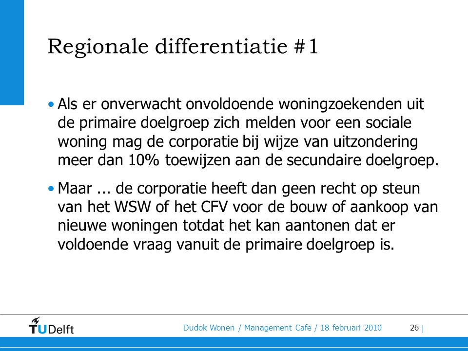 Regionale differentiatie #1