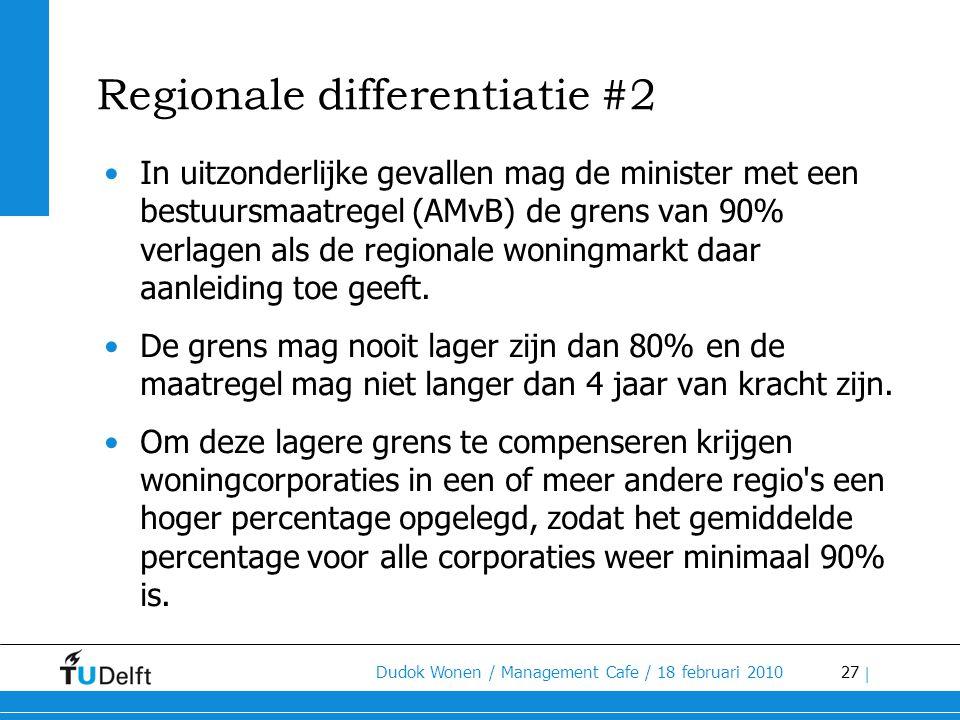 Regionale differentiatie #2