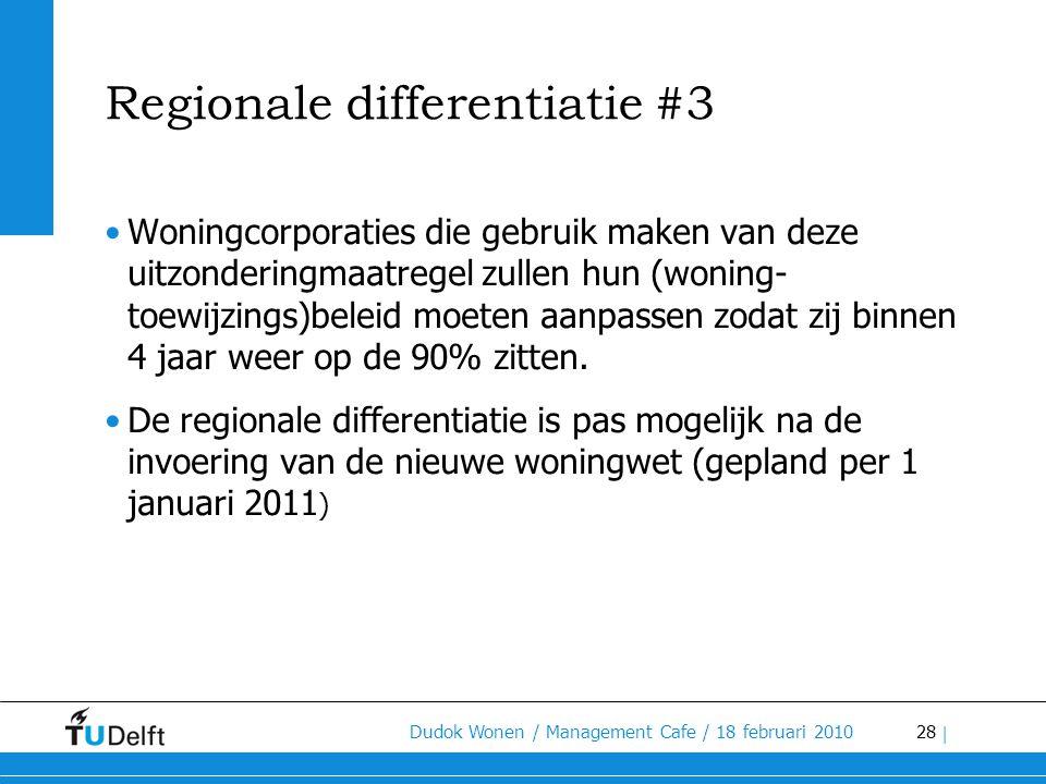 Regionale differentiatie #3