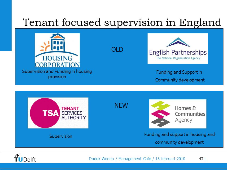 Tenant focused supervision in England