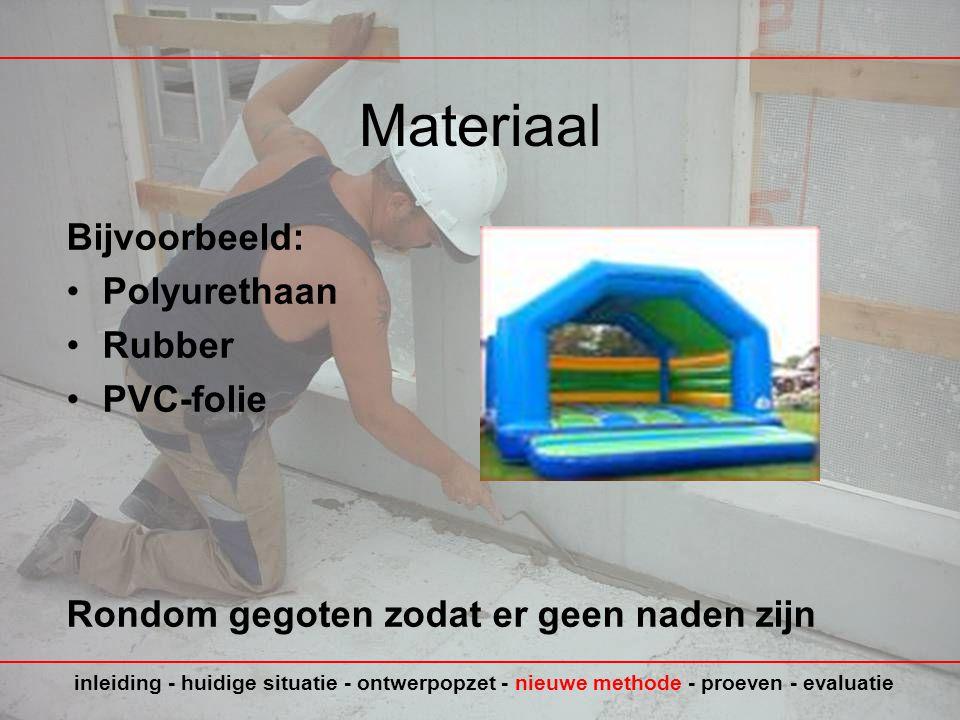 Materiaal Bijvoorbeeld: Polyurethaan Rubber PVC-folie