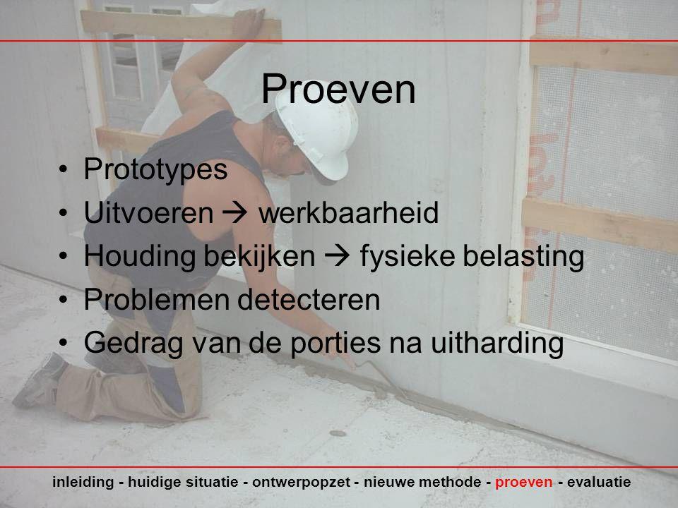 Proeven Prototypes Uitvoeren  werkbaarheid