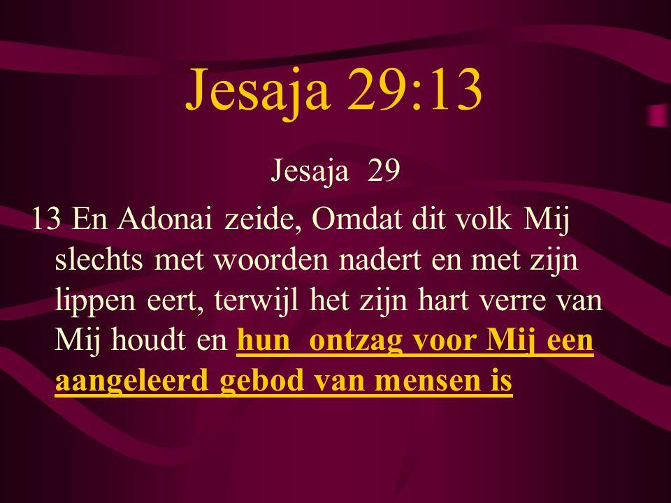 Jesaja 29:13 Jesaja 29.