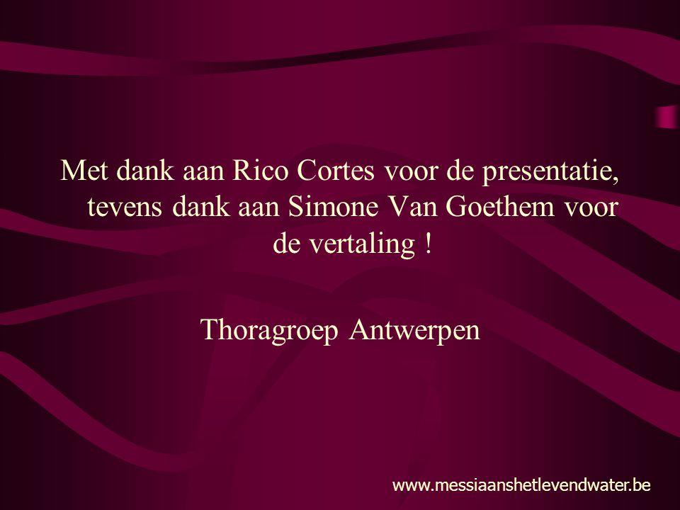 Met dank aan Rico Cortes voor de presentatie, tevens dank aan Simone Van Goethem voor de vertaling !