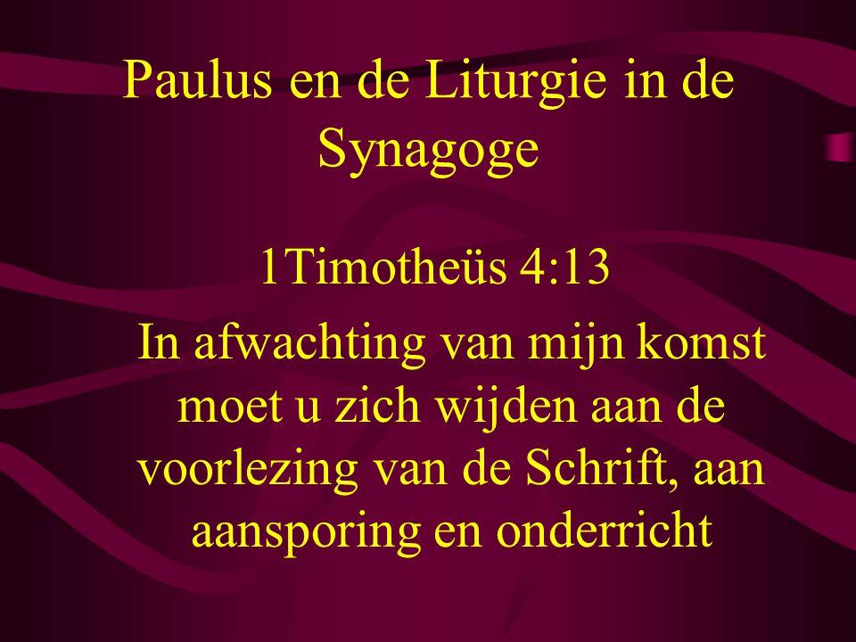 Paulus en de Liturgie in de Synagoge