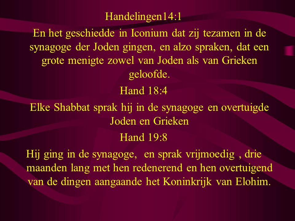 Elke Shabbat sprak hij in de synagoge en overtuigde Joden en Grieken