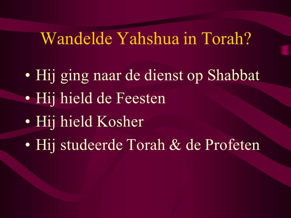 Wandelde Yahshua in Torah