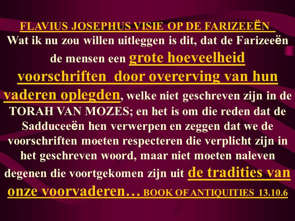 FLAVIUS JOSEPHUS VISIE OP DE FARIZEEËN