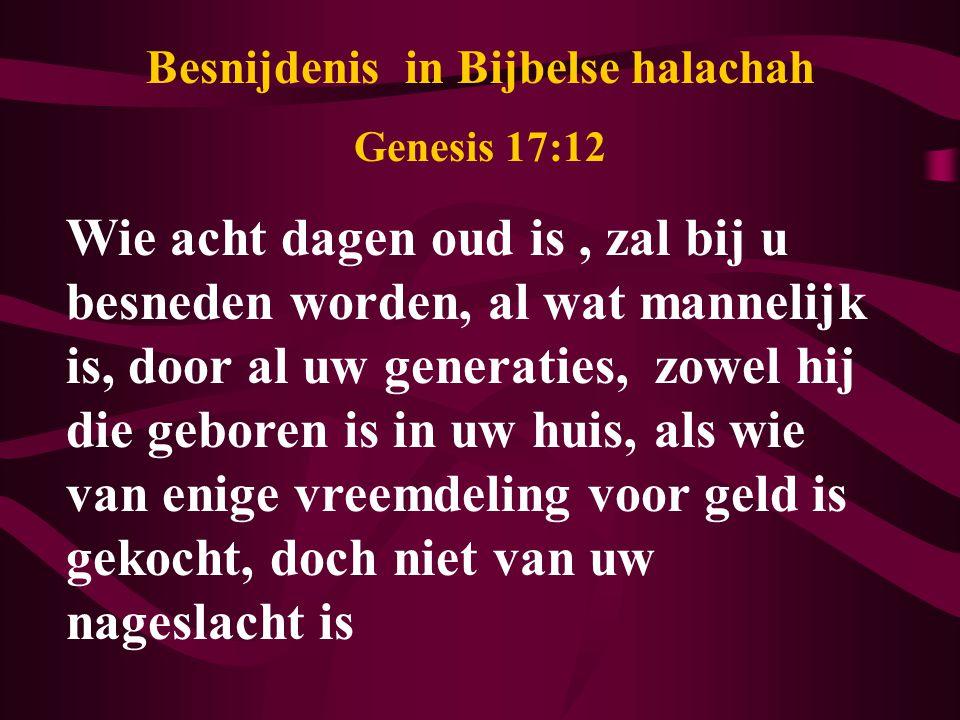 Besnijdenis in Bijbelse halachah