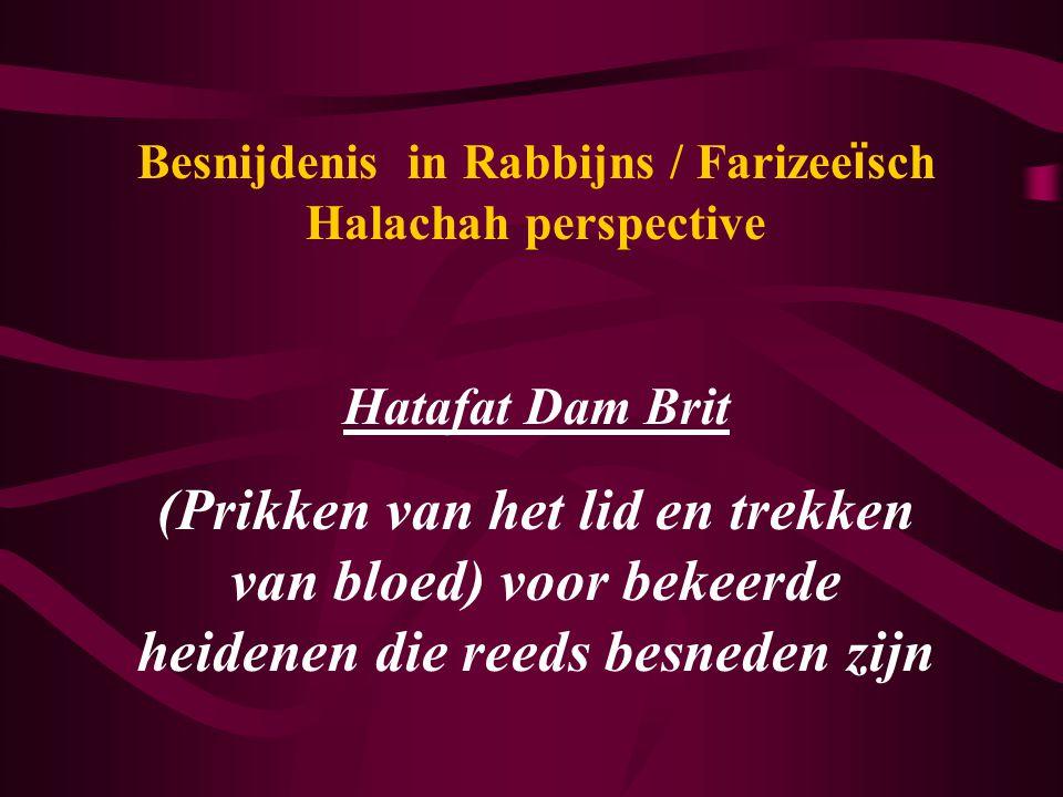 Besnijdenis in Rabbijns / Farizeeïsch Halachah perspective