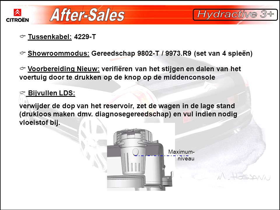After-Sales Hydractive 3+  Tussenkabel: 4229-T