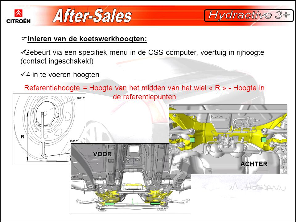 After-Sales Hydractive 3+ Inleren van de koetswerkhoogten: