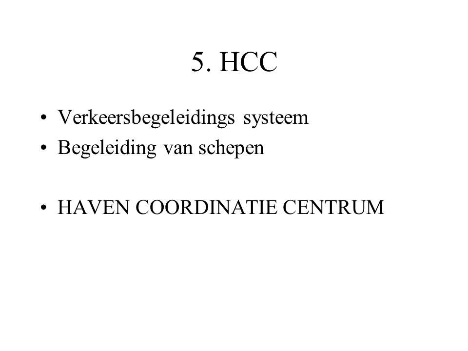 5. HCC Verkeersbegeleidings systeem Begeleiding van schepen