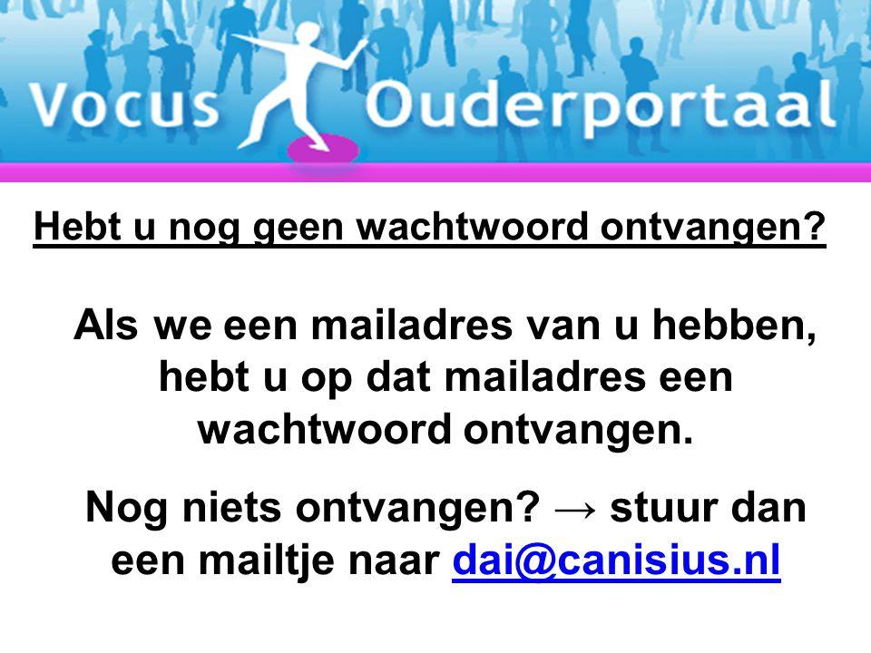 Nog niets ontvangen → stuur dan een mailtje naar dai@canisius.nl