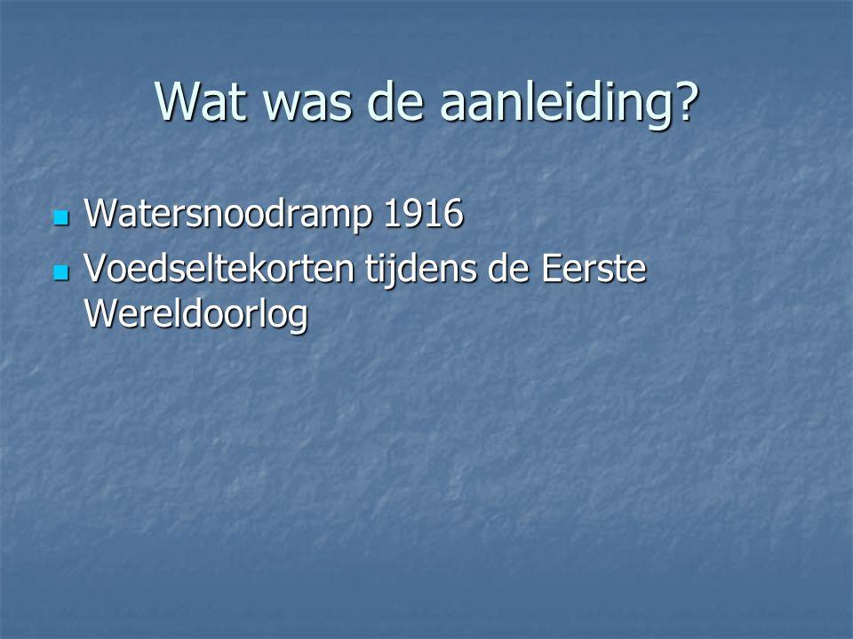 Wat was de aanleiding Watersnoodramp 1916