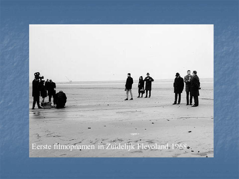 Eerste filmopnamen in Zuidelijk Flevoland 1968