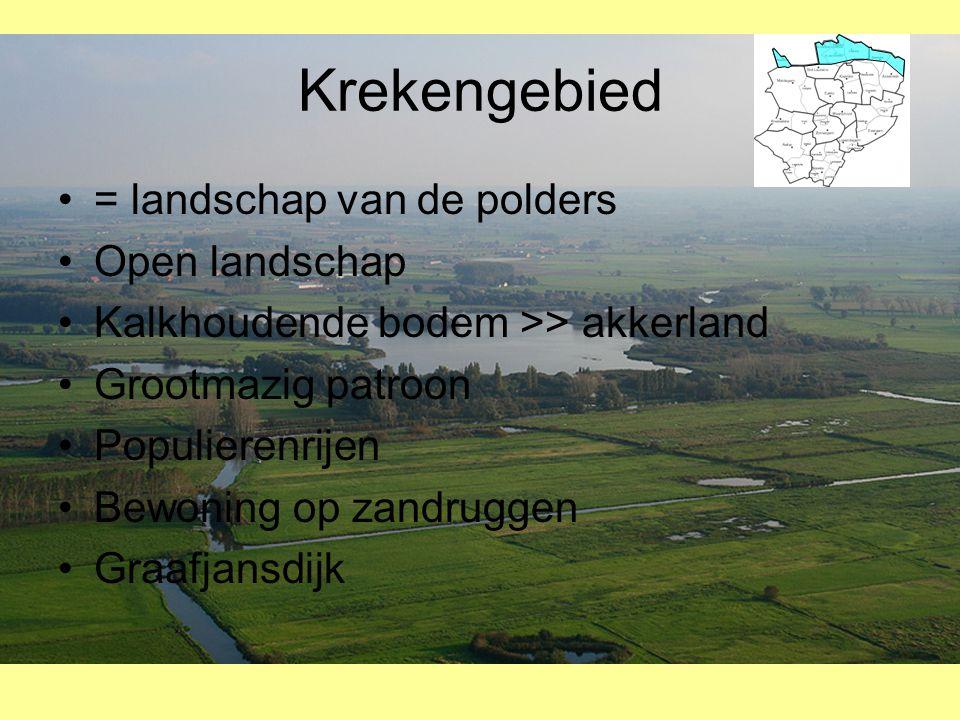 Krekengebied = landschap van de polders Open landschap