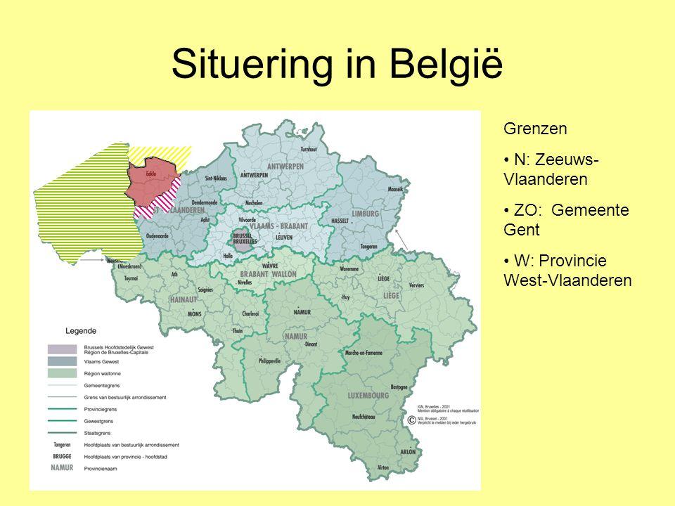 Situering in België Grenzen N: Zeeuws-Vlaanderen ZO: Gemeente Gent