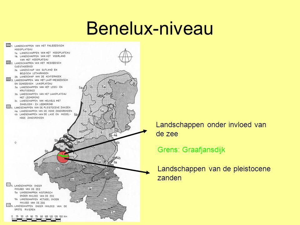 Benelux-niveau Landschappen onder invloed van de zee