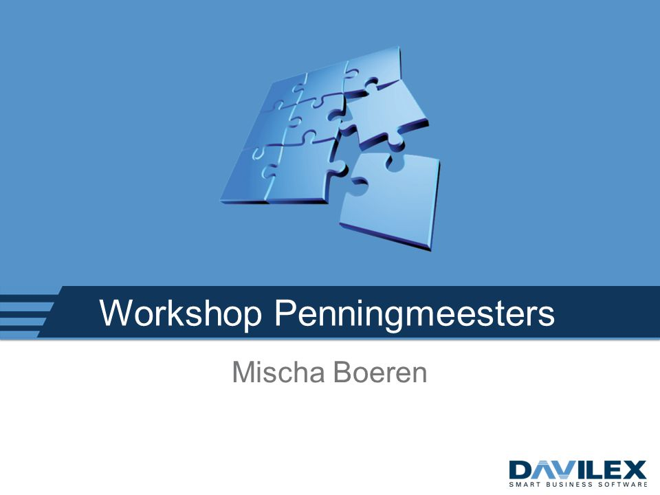 Workshop Penningmeesters