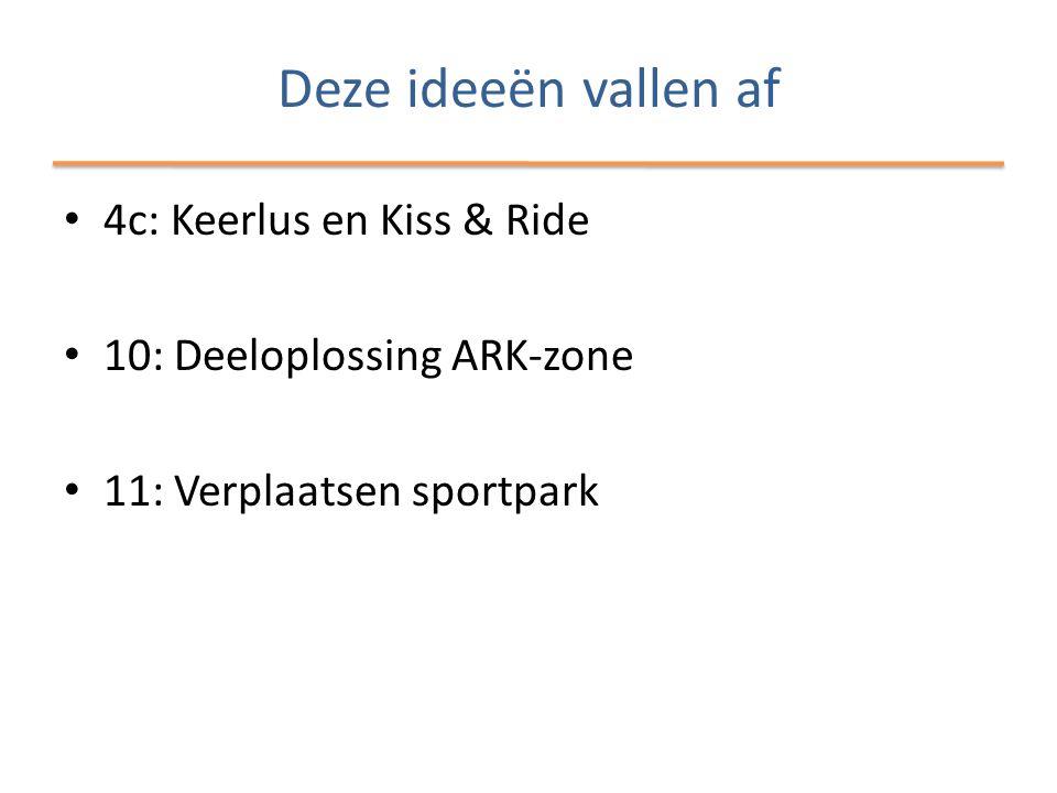Deze ideeën vallen af 4c: Keerlus en Kiss & Ride