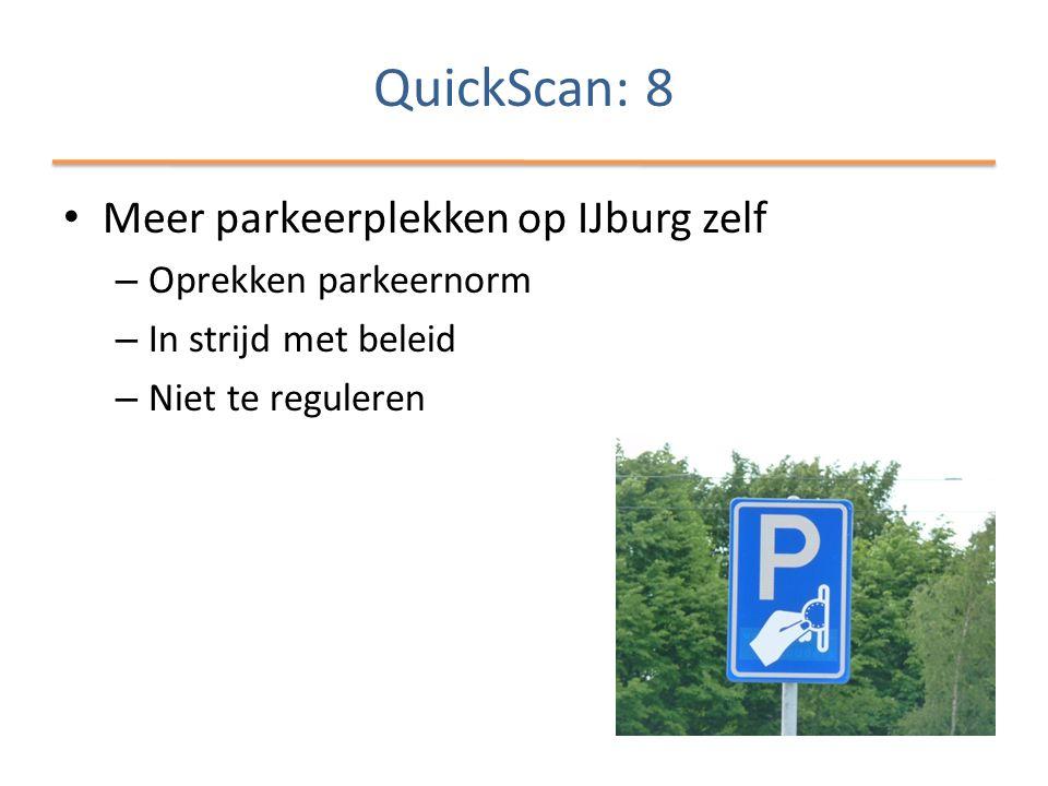 QuickScan: 8 Meer parkeerplekken op IJburg zelf Oprekken parkeernorm