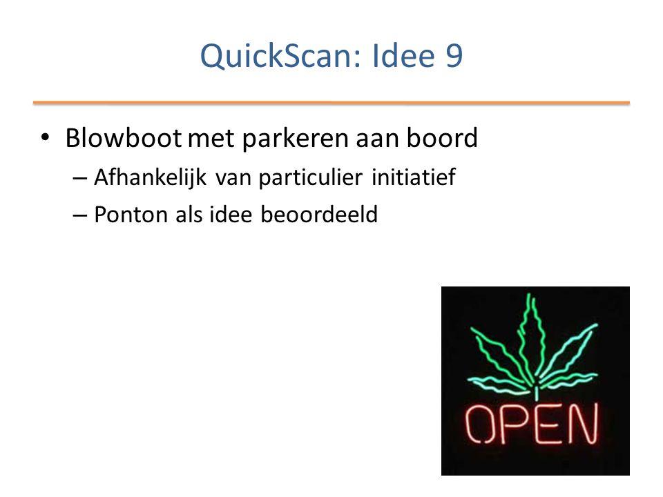 QuickScan: Idee 9 Blowboot met parkeren aan boord