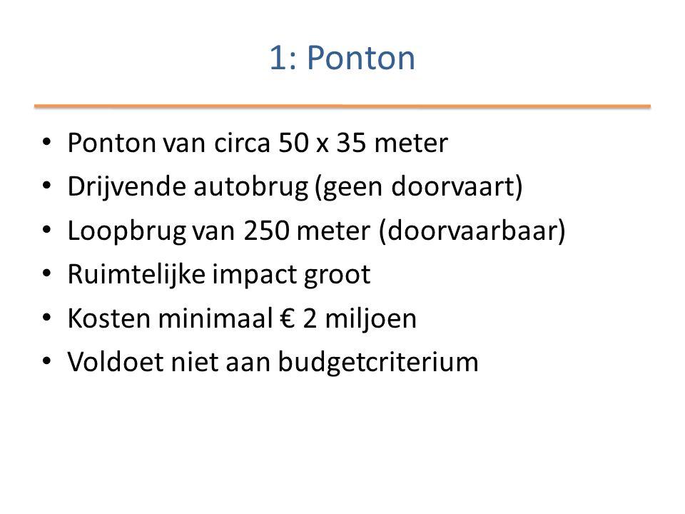 1: Ponton Ponton van circa 50 x 35 meter
