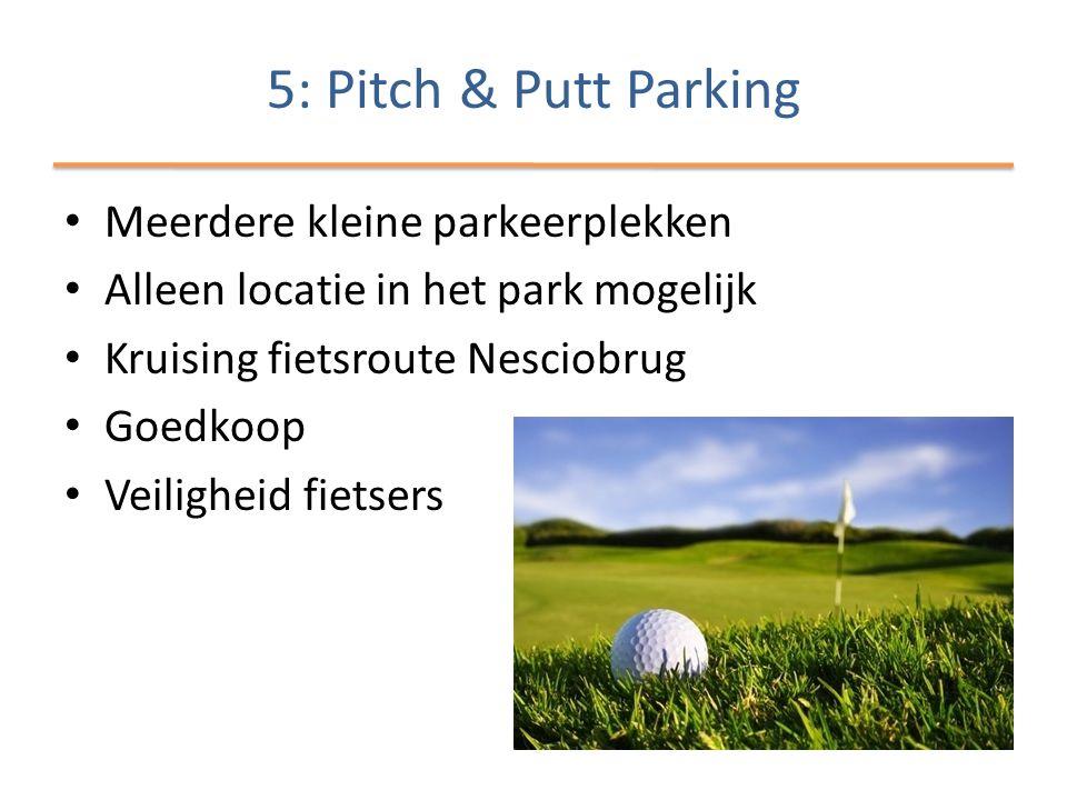 5: Pitch & Putt Parking Meerdere kleine parkeerplekken