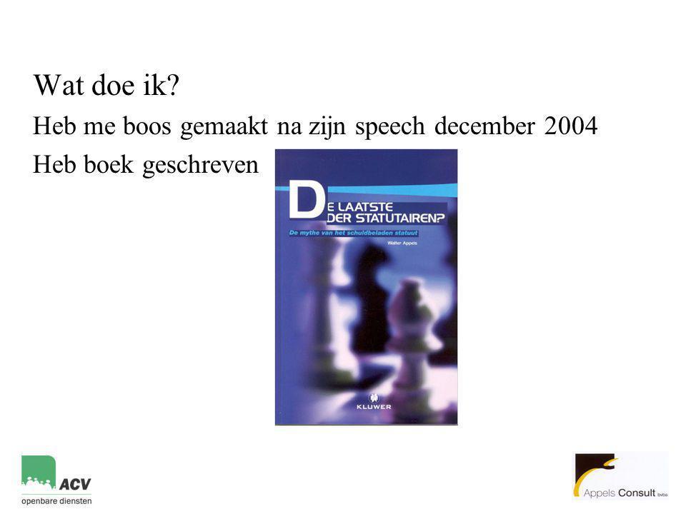 Wat doe ik Heb me boos gemaakt na zijn speech december 2004